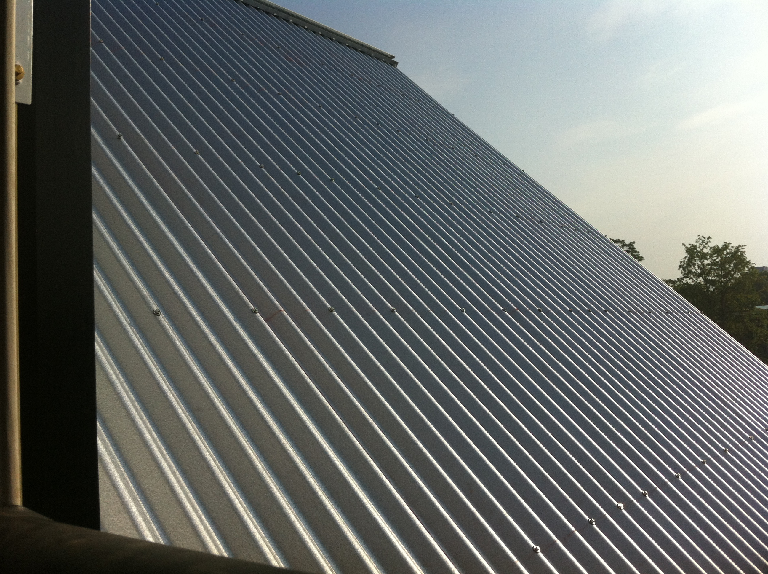 More of the metal roof