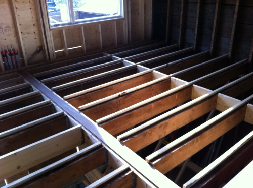 Bottom of joists are level